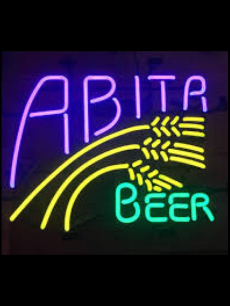 Abita cerveja cerveja sinais de néon luz néon rosa luzes de néon para quartos vidro luz acima sinal icônico luzes néon sinais de parede
