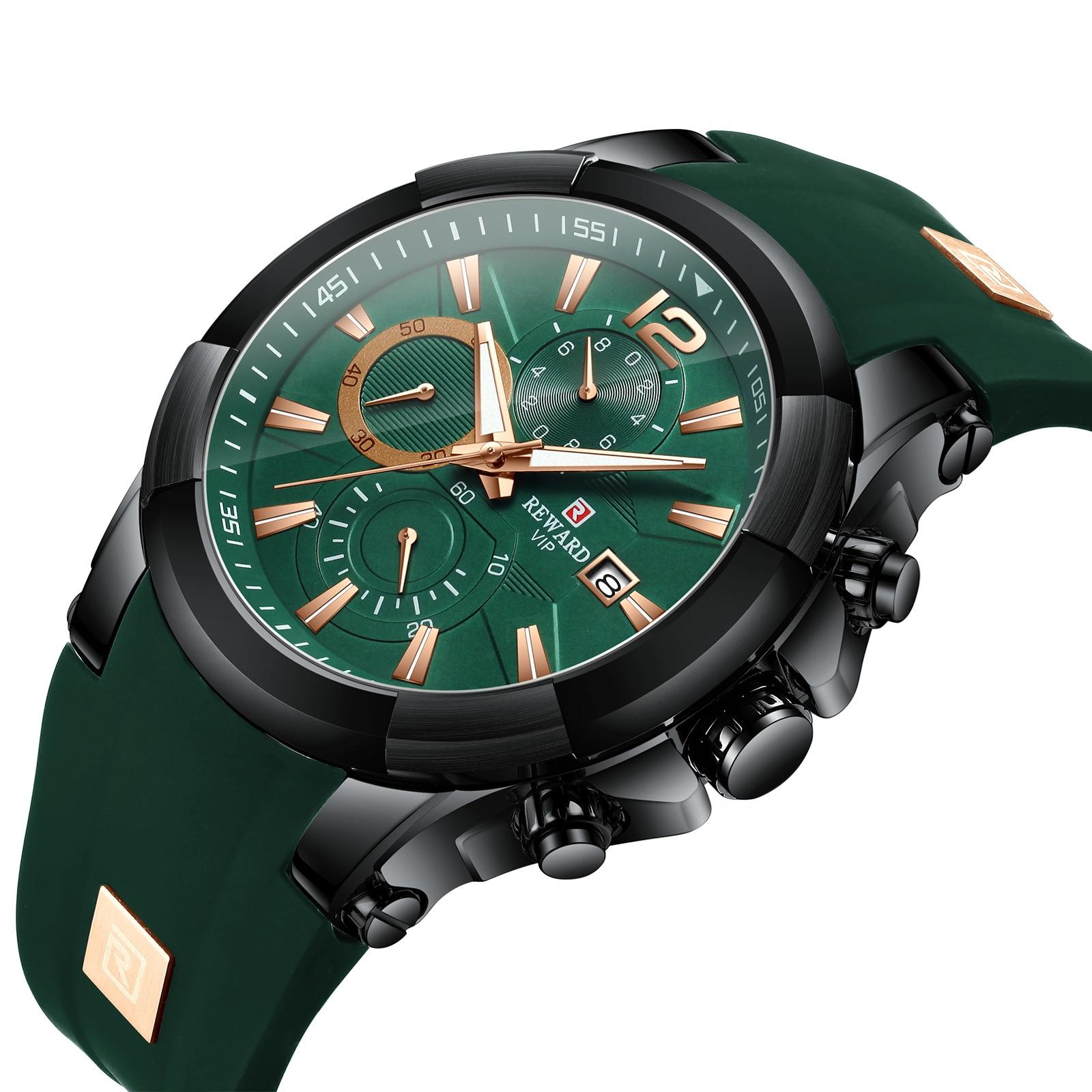 الرجال العلامة التجارية الفاخرة ساعة رياضية الذكور العسكرية ساعة كوارتز التناظرية تاريخ ساعة الصلب مضيئة اليد باتيك ساعة Relojes RD83006M