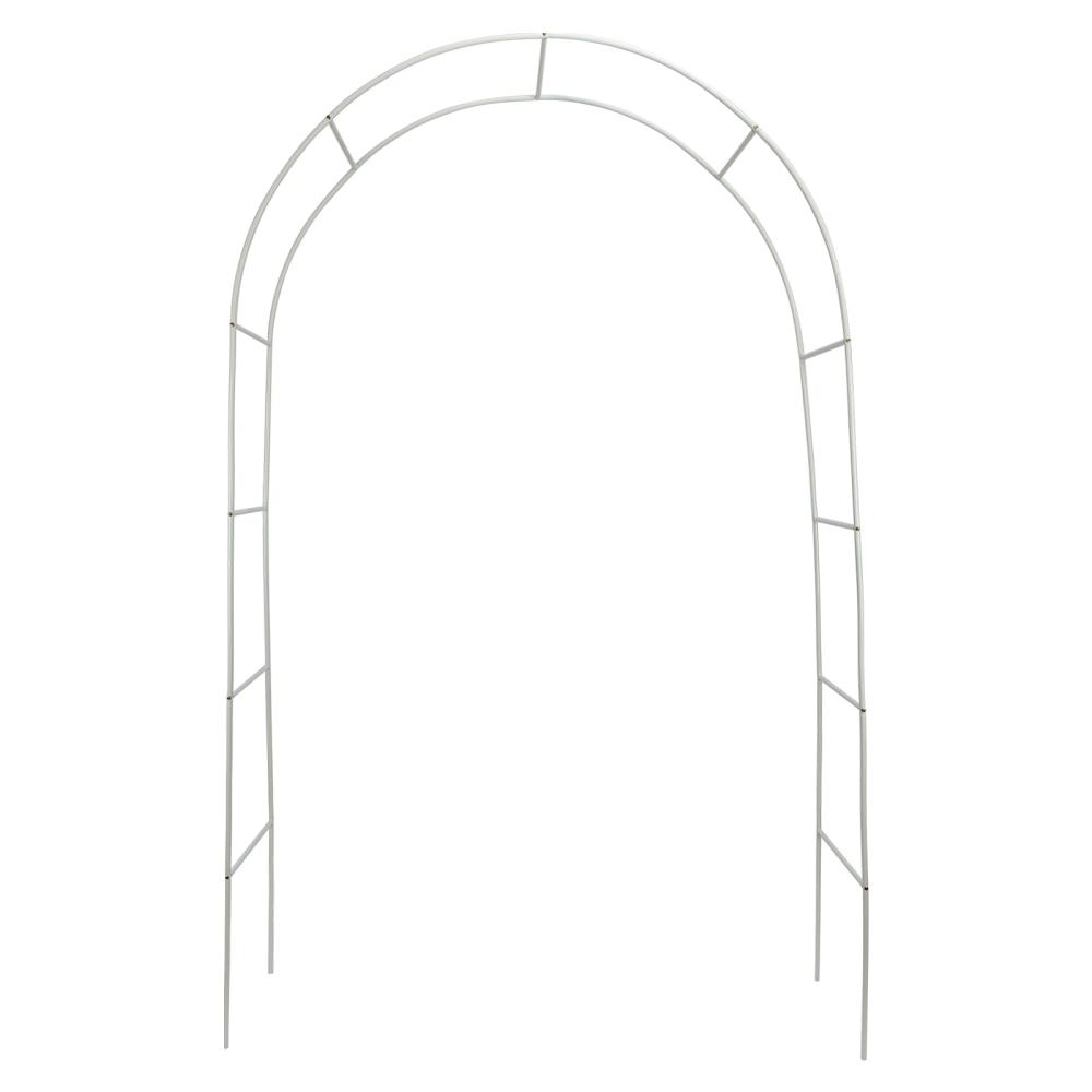 Sorbus حديقة تسلق قوس العريشة قوس زينة الزفاف الفولاذ المقاوم للصدأ خفيفة الوزن دائم فناء بين قوسين