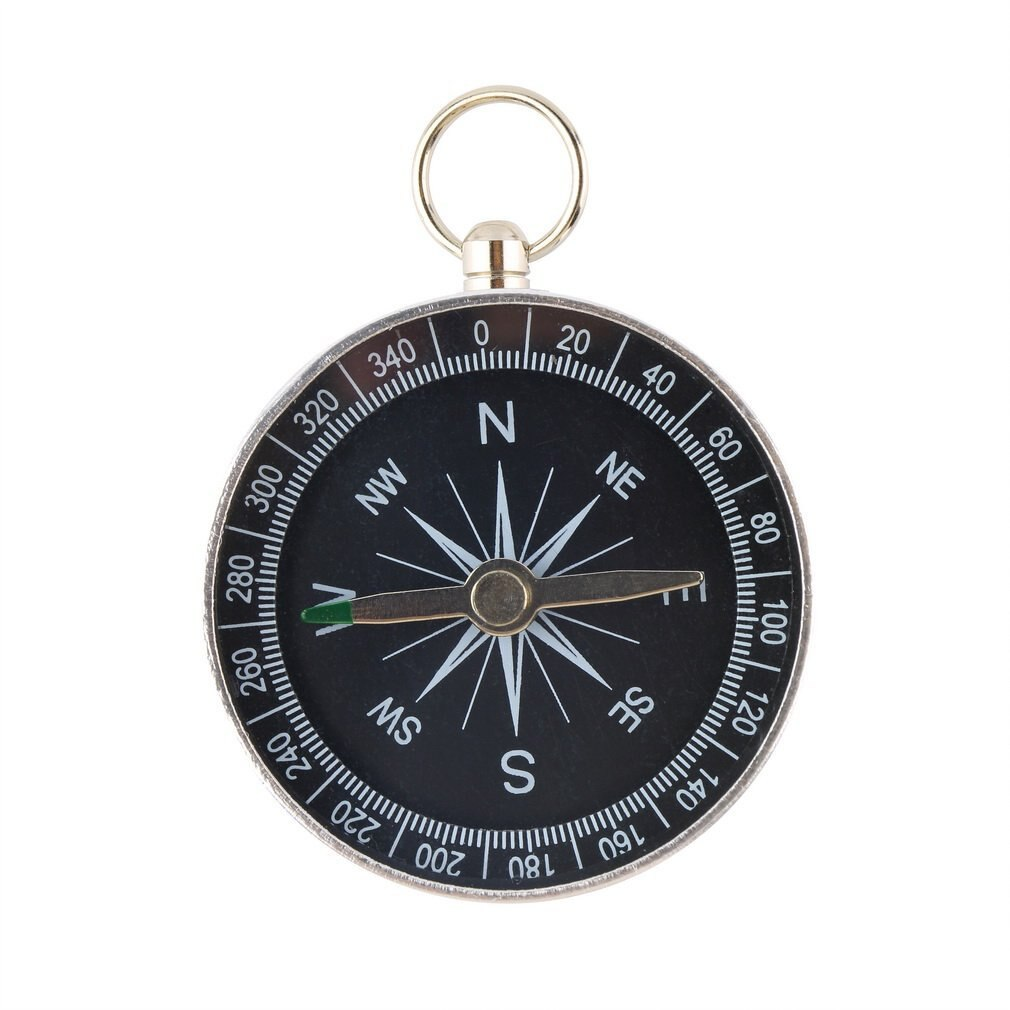 Pockets Mini Camping Hiking Compasses Lightweight Aluminum Outdoor Travel Compasses Navigation Wild Survival Tool Black