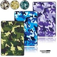 multicolor plastic tablet case for samsung galaxy tab s4tab s5e 10 5tab s6tab s6 lite 10 4 p610 p615tab s7 printed cases