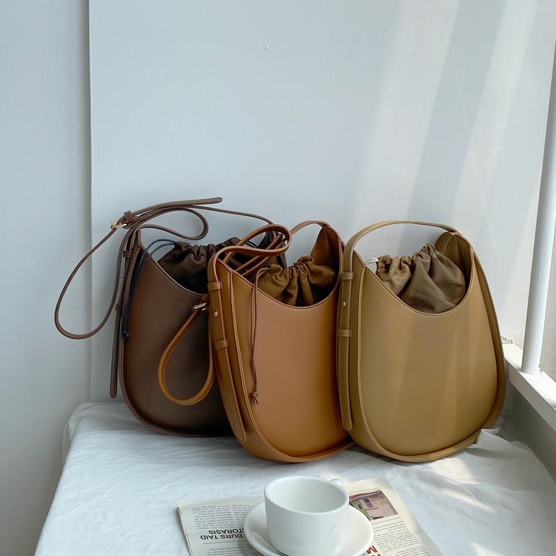Women's Bag Solid Color New Women Handbags Korean Style Small Ladies Shoulder Bag PU Leather Female Crossbody Bag Whole Sale