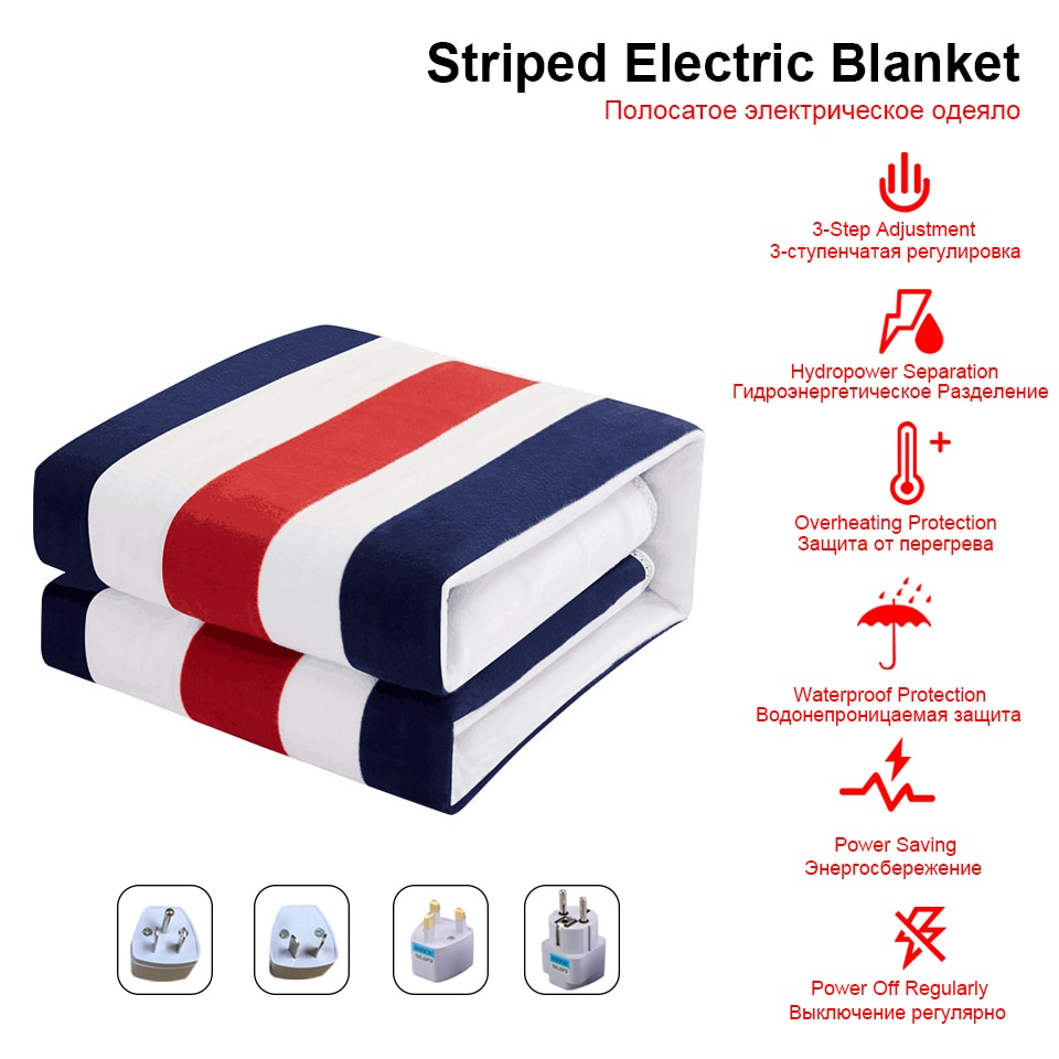 Manta eléctrica con doble Control, Manta calefactora de 220 V, 2 cuerpos,...