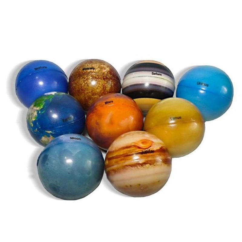 6,3 см восемь планет Луна Звезда мяч игрушка красочный надувной губка эластичный с принтом звезды мяч Детская развивающая игрушка подарок