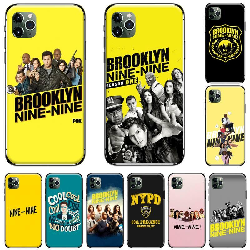 Brooklyn 99 nueve-nueve negro fresco suave Goma de TPU cubierta del teléfono para iphone 5 5S SE 5C 6S 6 7 8 plus X XS X XR 11 PRO MAX