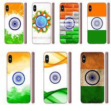 Emblemat indyjskiej flagi narodowej dla Apple iPhone 4 4S 5 5C 5S SE SE2 6 6S 7 8 11 Plus Pro X XS Max XR przezroczysta miękka skorupa
