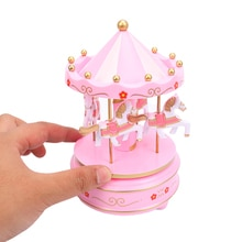 Merry-Go-Round Wooden Music Box Toy Child Baby Game Kids Children Toys Home Decor Gift New