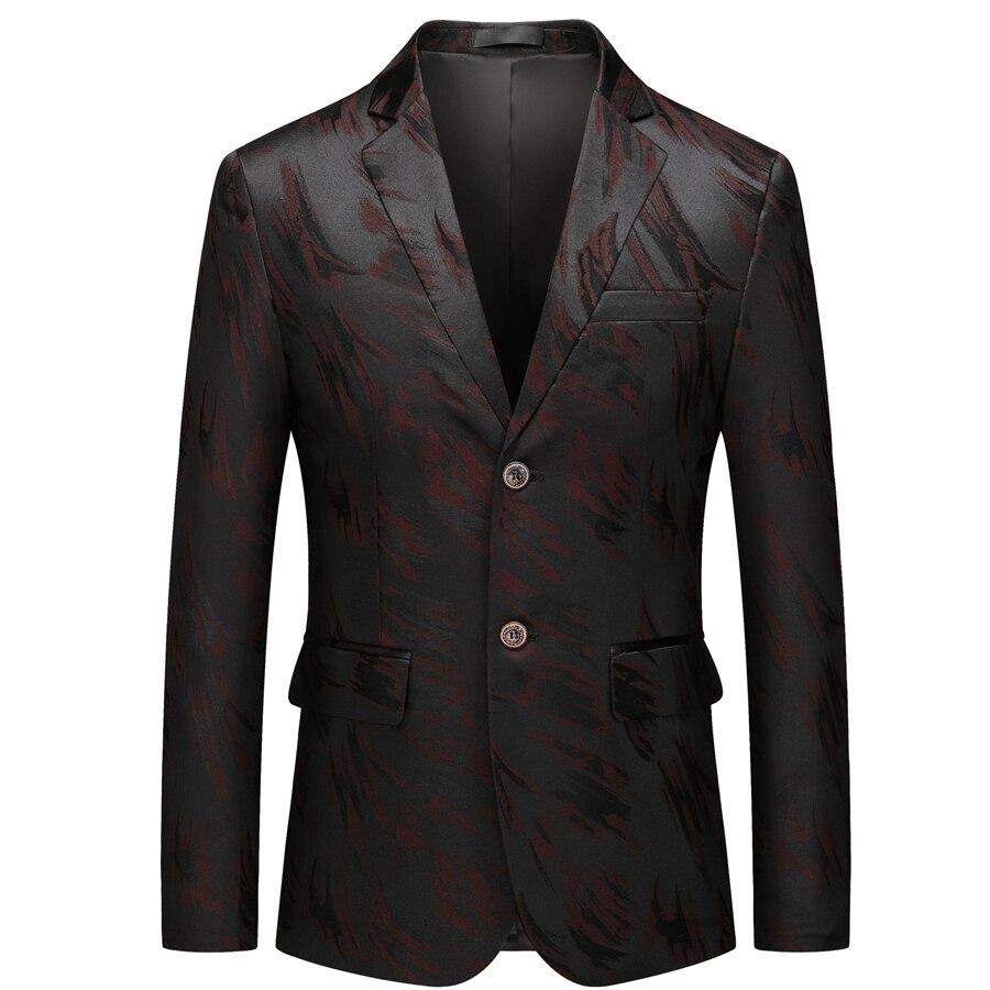 Loldeal Men Pinstripe Suit Slim Fit Elegant Single Breasted Business Wedding Party Blazer