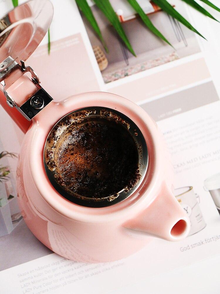 Pequeno filtro pote de café inoxidável charme rosa timemore esmalte cafeteira café expresso nutrição elétrica chaleira bf50cp