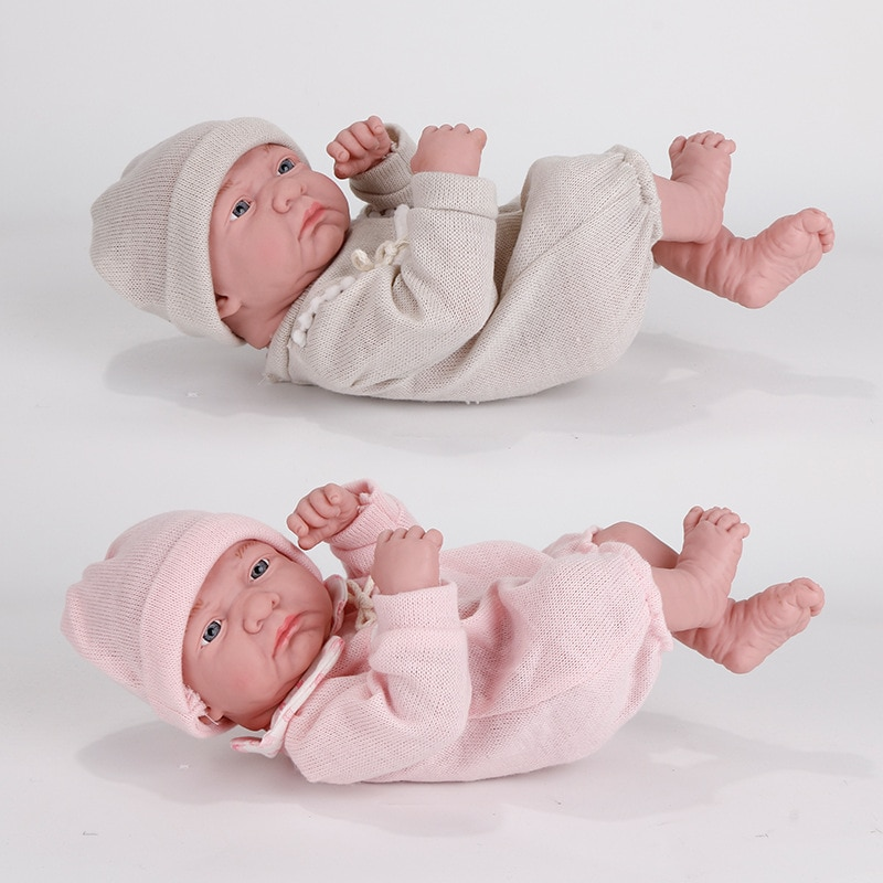 35CM New Baby Dolls Reborn Bebe Toys Lying Down Shape Silicone Full Body Toddler Newborn Reborn Doll Kids Cute Toy For Girl Gift