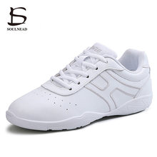 Boys Girls Aerobics Dance Shoes Women Child Sports Fitness Gym Shoes White Children Competitive Mode