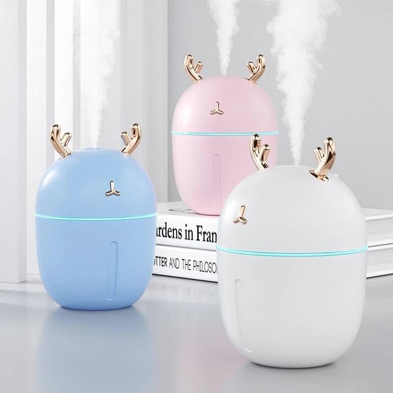 Ультразвуковой мини-увлажнитель воздуха с USB, аромадиффузор эфирного масла, домашний автомобильный распылитель, генератор тумана, тихий оч...