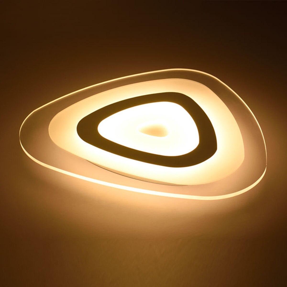 LED قوس مثلث الحديثة سامسونج ضوء السقف فلوش جبل الثريا مصابيح لغرفة المعيشة المنزل 35 واط