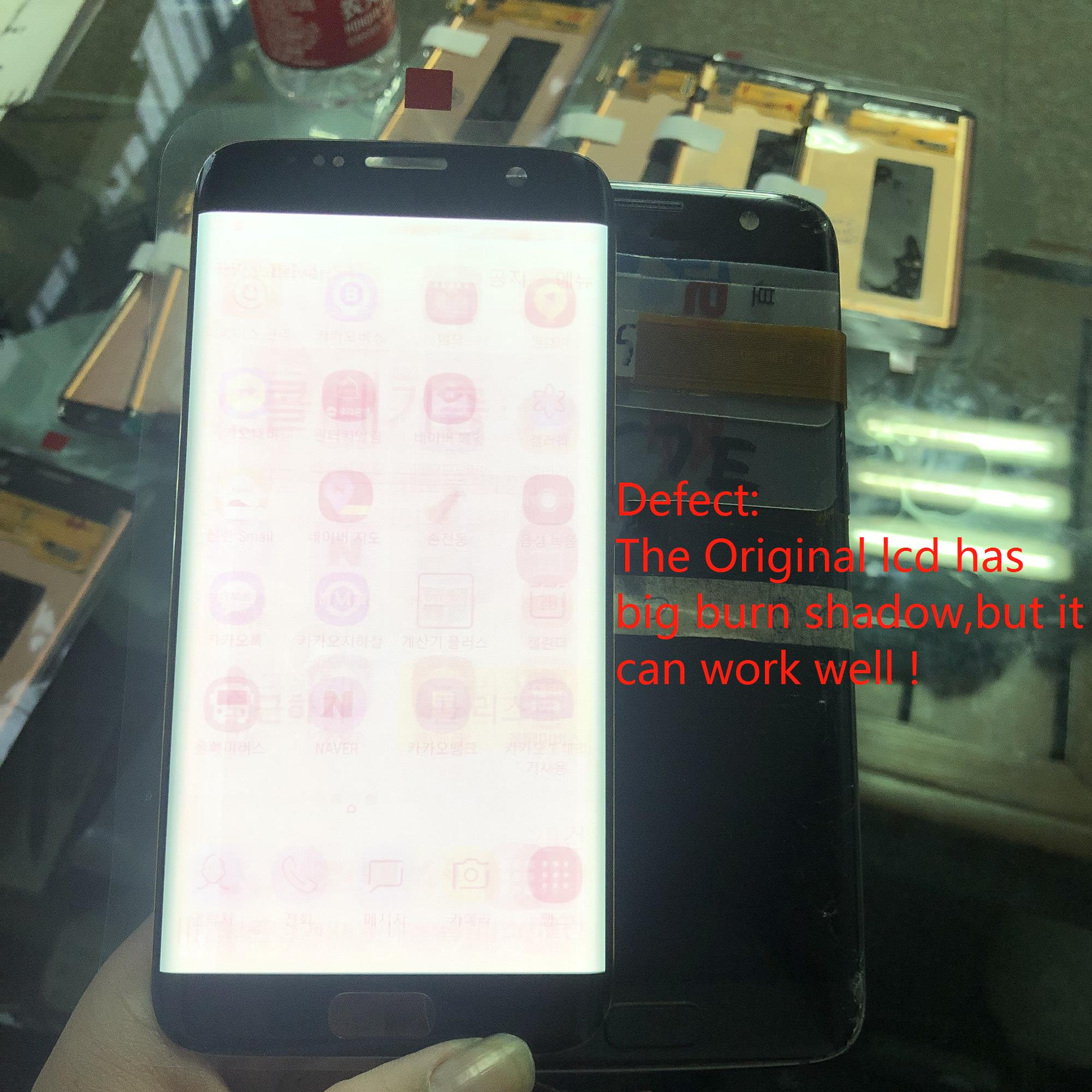 With big Burn-Shadow ORIGINAL 5.5 Amoled LCD Display For SAMSUNG Galaxy S7 edge G935 SM-G935F G935FD LCD+Touch Screen Digitizer