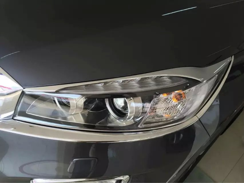 KOUVI, 6 uds, cubierta cromada para faro delantero, guarnición embellecedora para Kia Sorento 2015 2016 2017, accesorios de estilo de coche
