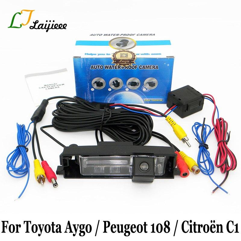 Для Toyota Aygo/Peugeot 108/Citroen C1 2014 ~ Present/HD CCD камера заднего вида с ночным видением/парковочная камера заднего хода автомобиля