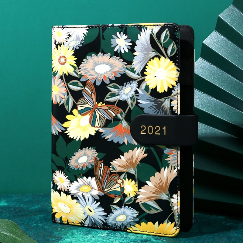 Agenda 2021 Planner Organizer B6 Diary Notebook Calendar Journal Weekly Notepad Buckle Book Office School Supplies Stationery