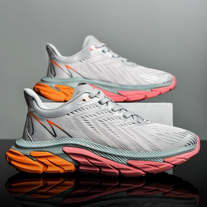 New running shoes for men and women marathon mesh breathable cushioning shock absorbing sports leisu