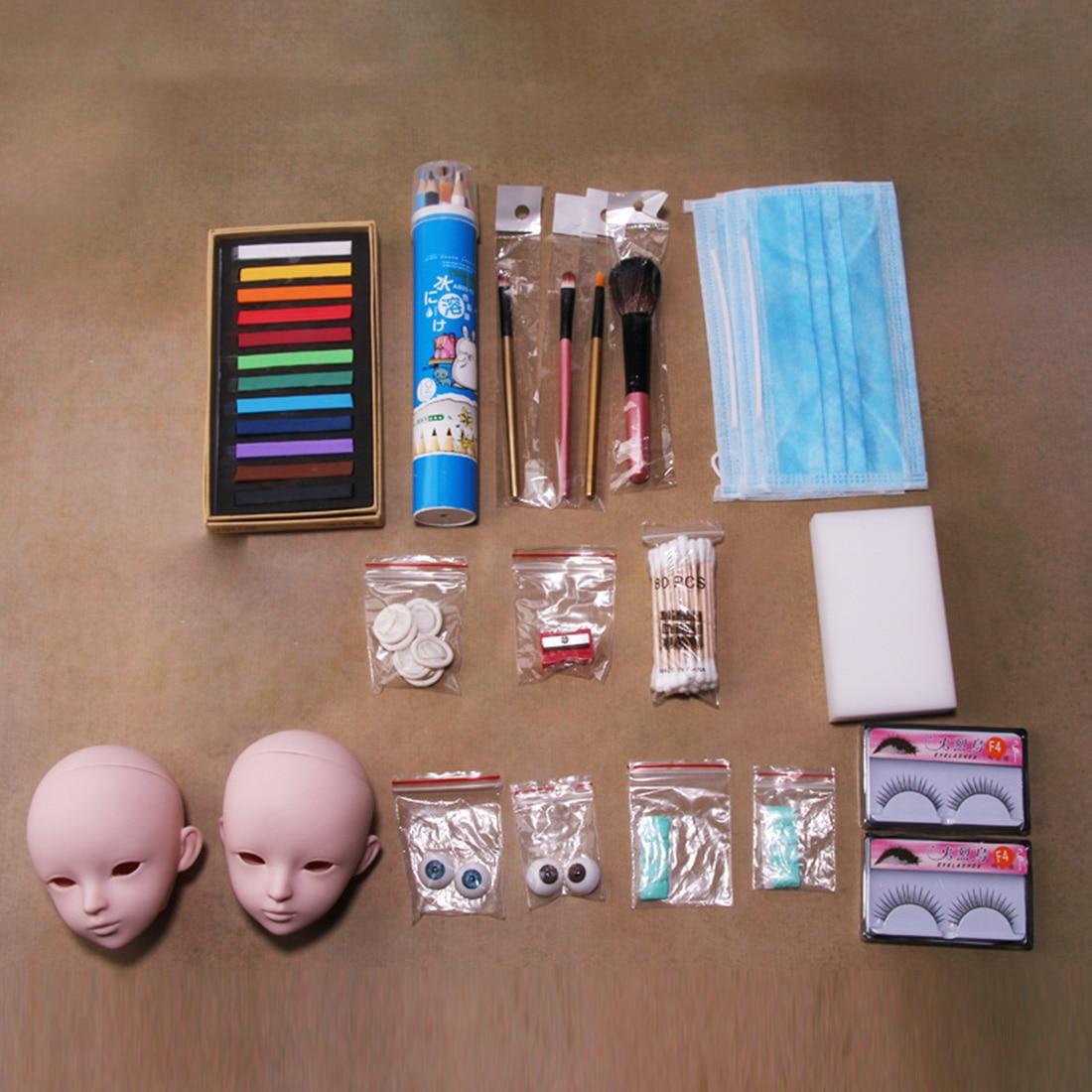 New Hot Junior DIY Doll Makeup Tools Kit for BJD Doll (11/15 Tools / No Gloss Oil, Makeup Remover an