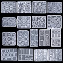 Molde de silicona colgante con forma de corazón, molde de resina para collar y llavero, fabricación de joyas de resina epoxi de cristal