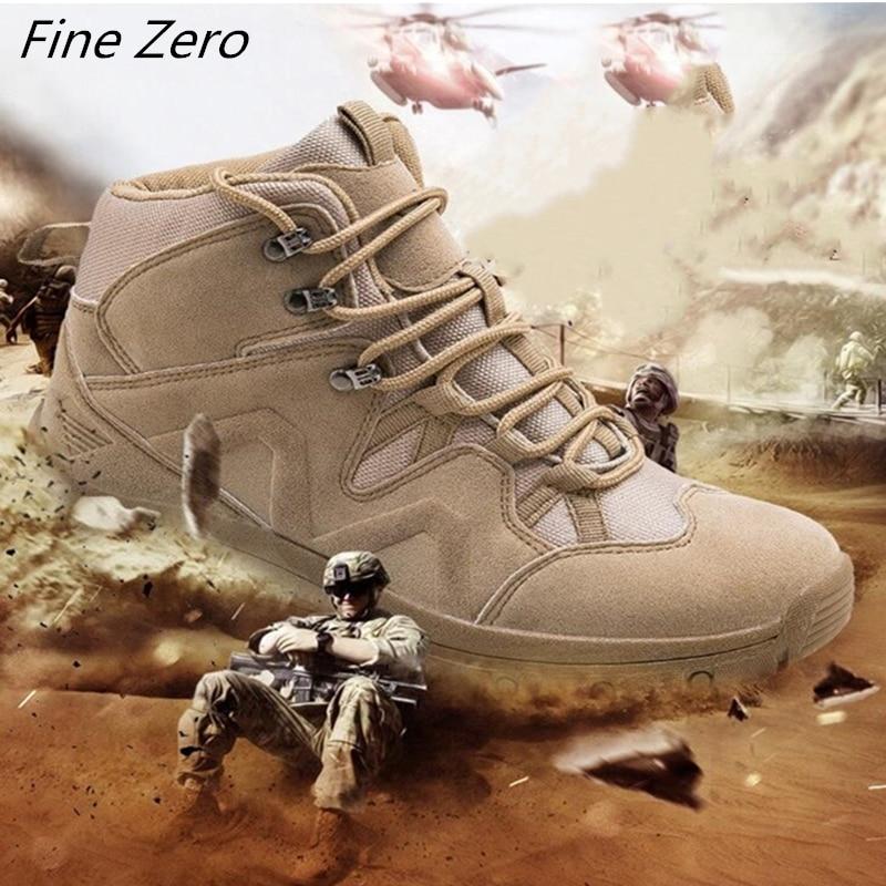 Deserto Botas Táticas dos homens novos Desgaste-oposição Do Exército Botas Homens À Prova D Água Para Caminhadas Ao Ar Livre Sapatos de Segurança do Trabalho Dos Homens de Combate ankle Boots