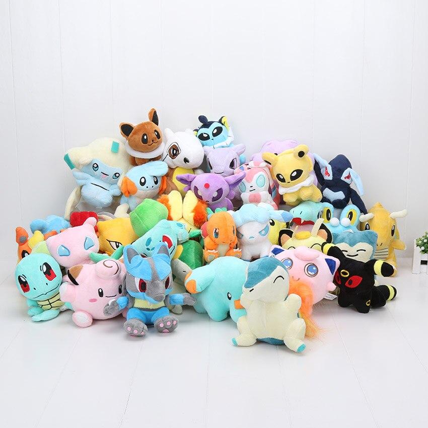 11-18cm poupée Pokemon Pikachu Ditto miouette Snivy Phanpy Torchic Jirachi Froakie Mudkip peluche peluche peluche jouet