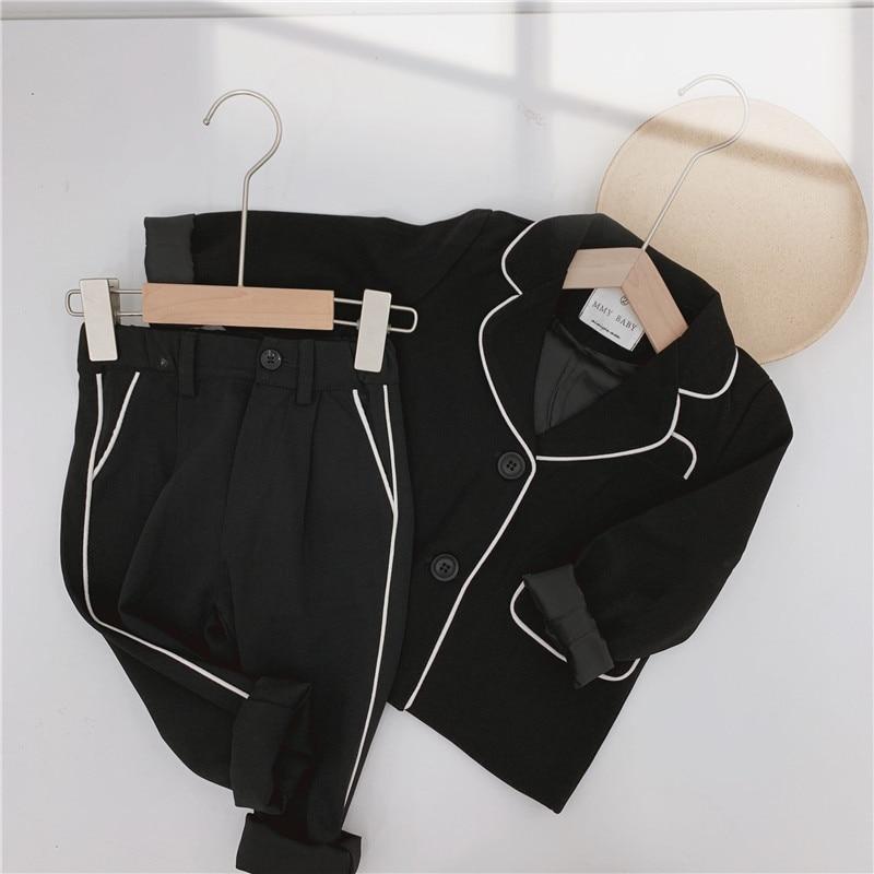 1 2 3 4 5 6 años conjuntos de ropa para niños pequeños pantalones de chaqueta Coreana de moda para niños recién llegados trajes para niños de alta calidad 2020