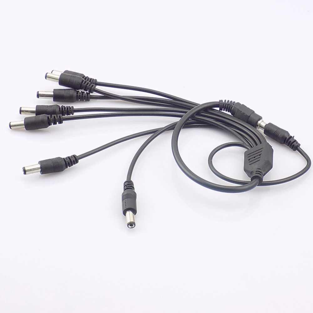 Power Cable DC 1 Female to 2 3 4 5 6 8 Male Power Split Splitter Cable 2.1*5.5mm For CCTV Security Camera System enlarge
