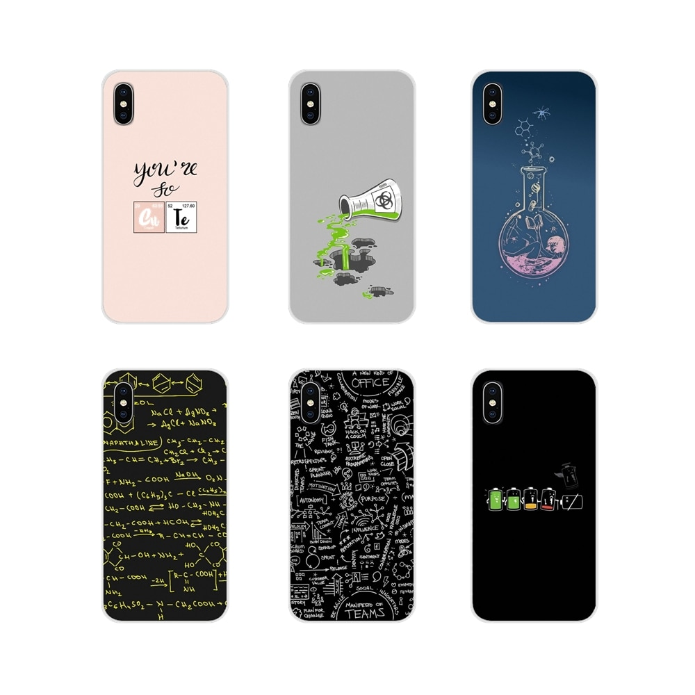 Accesorios de la cáscara del teléfono cubre para Apple iPhone X XR XS 11Pro MAX 4S 5S 5C SE 6 6S 7 7 Plus ipod touch 5 6 química de la ciencia