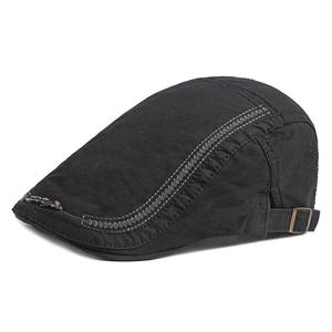 2021 Cotton four seasons solid color Newsboy Caps Flat Peaked Cap Men and Women Painter Beret Hats 90