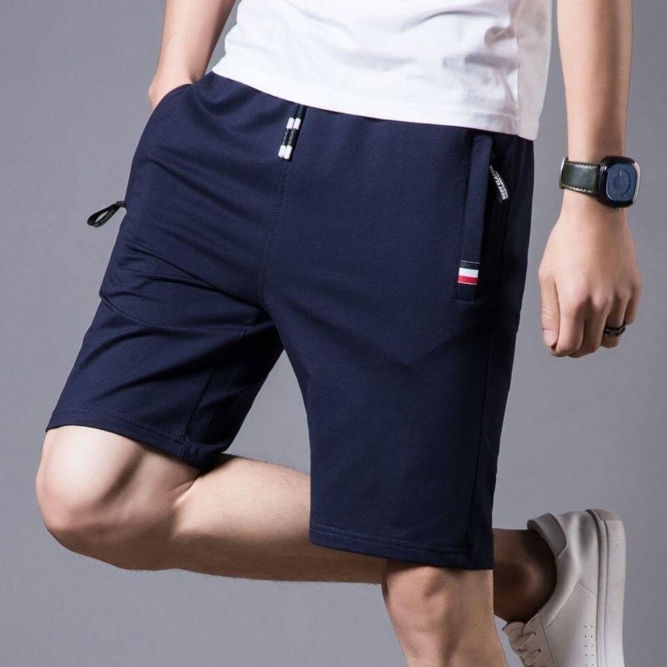Мужские летние бриджи, шорты 2021, повседневные Черные мужские быстросохнущие шорты, Мужская классическая брендовая одежда, пляжные шорты