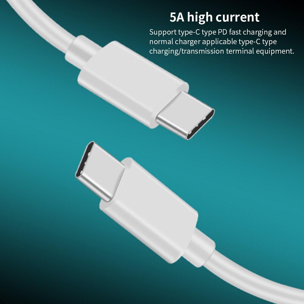 100 Вт USB C к USB Type C кабель USBC PD быстрое зарядное устройство Шнур USB-C кабель Type-c для Xiaomi mi 10 Pro Samsung S20 Macbook iPad