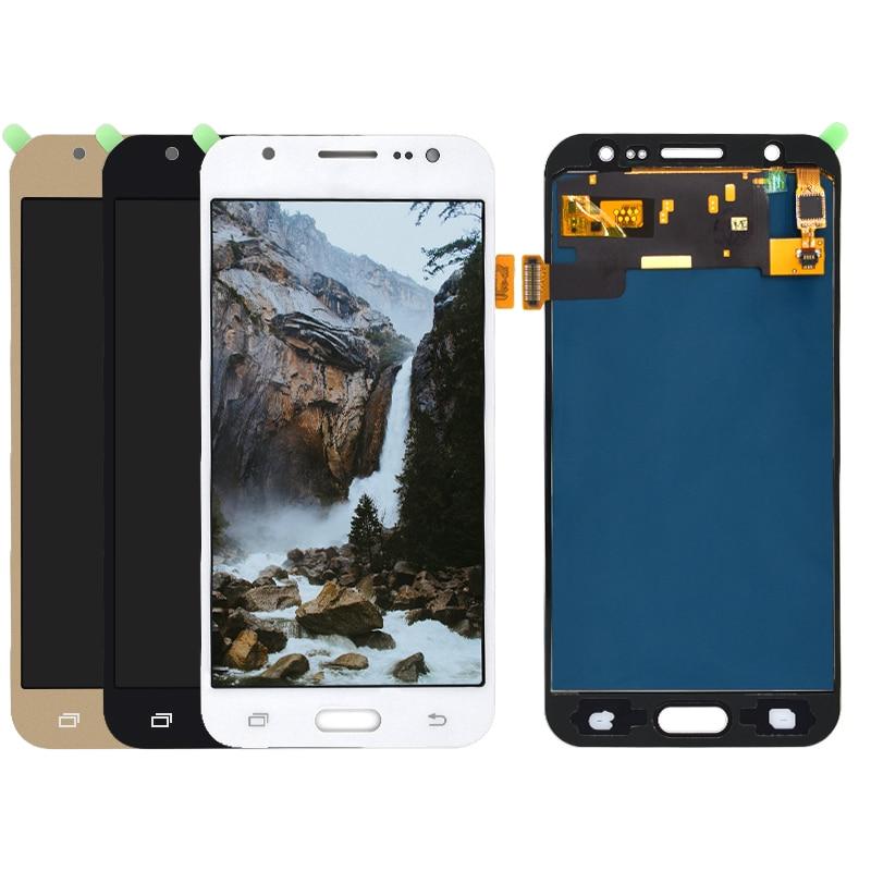 Para Samsung Galaxy J5 2015 J500 pantalla LCD + SM-J500H de pantalla táctil J500FN J500F J500M puede ajustar el montaje del digitalizador de brillo