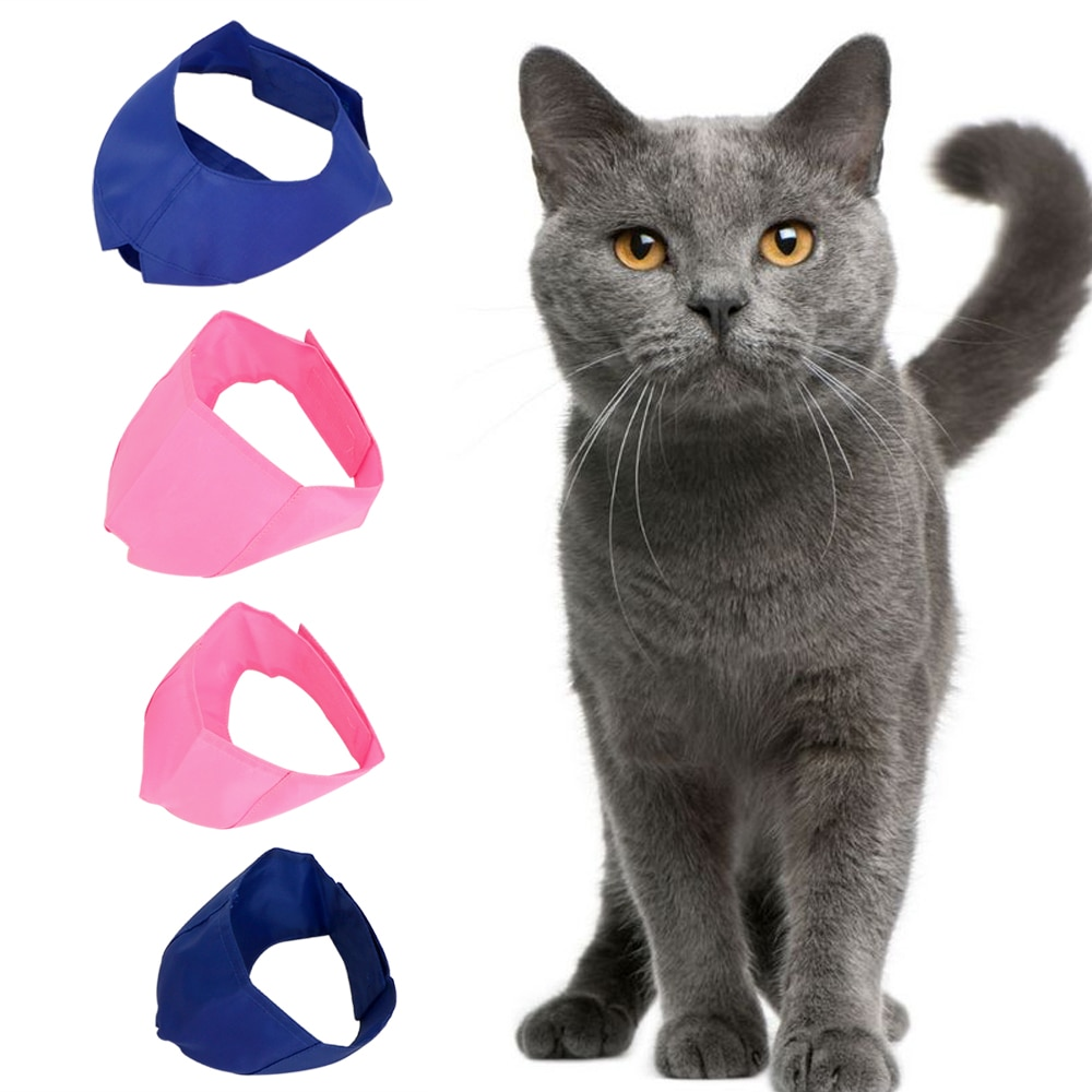 Pet Eye MaskCat protective Cover Anti Bite Muzzle  Blindfold Patch Cat Bath Cosmetic Beauty Grooming