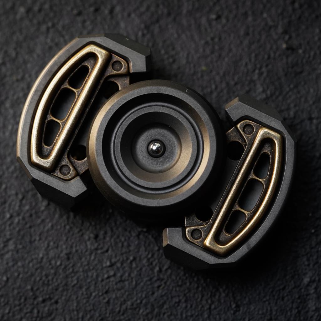 EDC Stainless Steel Fingertip Gyro Decompression Toy Robot Modeling Fingertip Toys enlarge