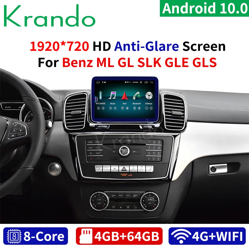 Krando Android 10.0 8.4 /9 4 + 64G voiture multimédia Radio Audio pour Mercedes benz GLS GLE ML GL SLK 2011-2018 NTG 4.5 5.0