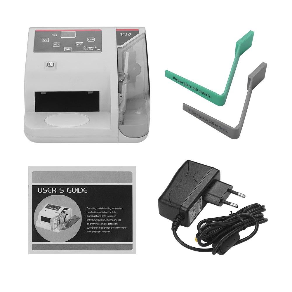 ماكينة عد النقود الصغيرة المحمولة في جميع أنحاء العالم عملة النقدية البنكنوت بيل آلة العد الكاشف مع كشف الأشعة فوق البنفسجية/MG/WM المزيفة