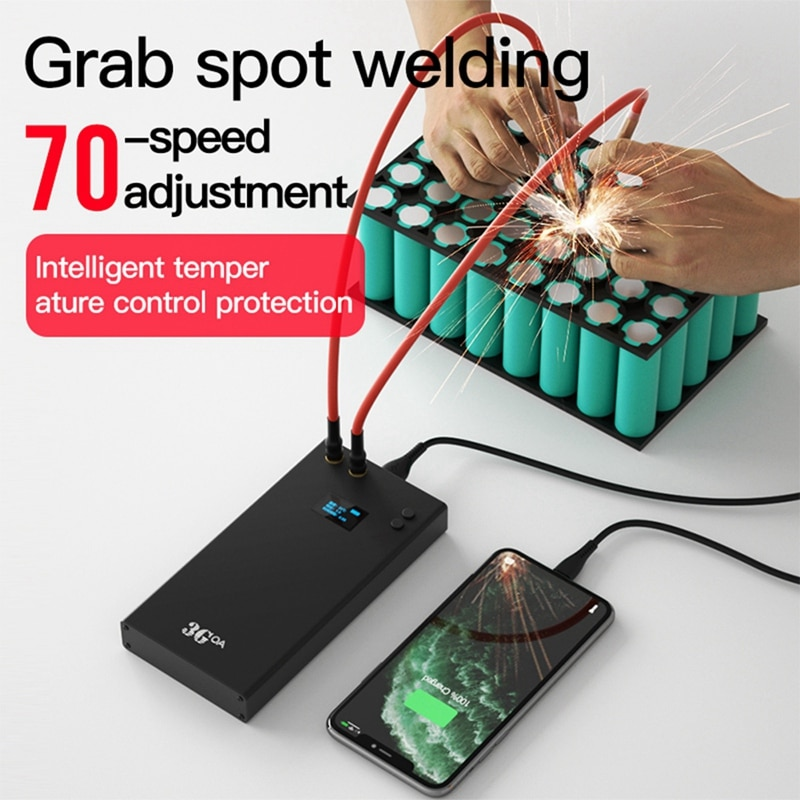 3GOA HD OLED Portable Spot Welding With 70 Gears Adjustment Mini Spot Welder 70 Gears Adjustable 7500mAh Type-C Charging enlarge