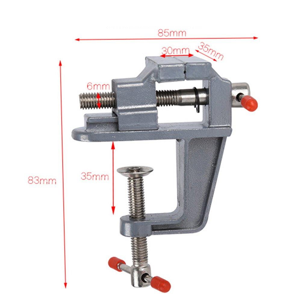 Abrazadera de Banco de mesa de aleación de aluminio de 35 MM Mini banco de tornillo de mesa para la reparación fija del molde de artesanía DIY herramienta