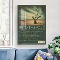 Toile dart mural personnalise  mode dans la nature  affiche de peinture  image imprimee  decoration de salon   20-1005-42-12