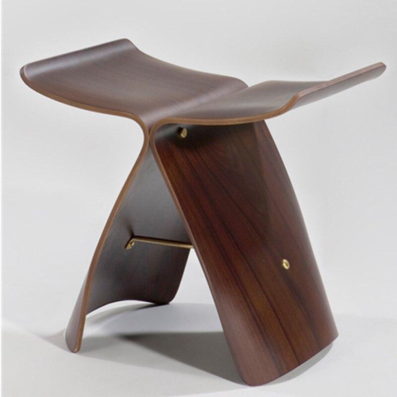 كرسي أحذية خشبي على شكل فراشة مصنوع من Ash plyوو ، أثاث غرفة المعيشة ، كرسي المنزل ، أثاث غرفة النوم