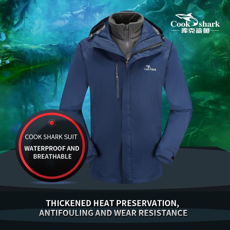 Cook Shark 2020 новая мужская куртка уличная куртка Мужская модная повседневная куртка мужская осенняя и зимняя ветровка