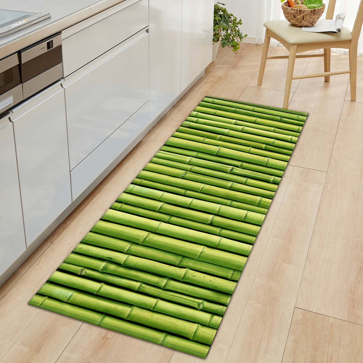 3D Printed Long Carpet Non-slip Absorbent Bathroom Kitchen Mat Sofa Wardrobe Shoe Cabinet Floor Mat Picnic Rug
