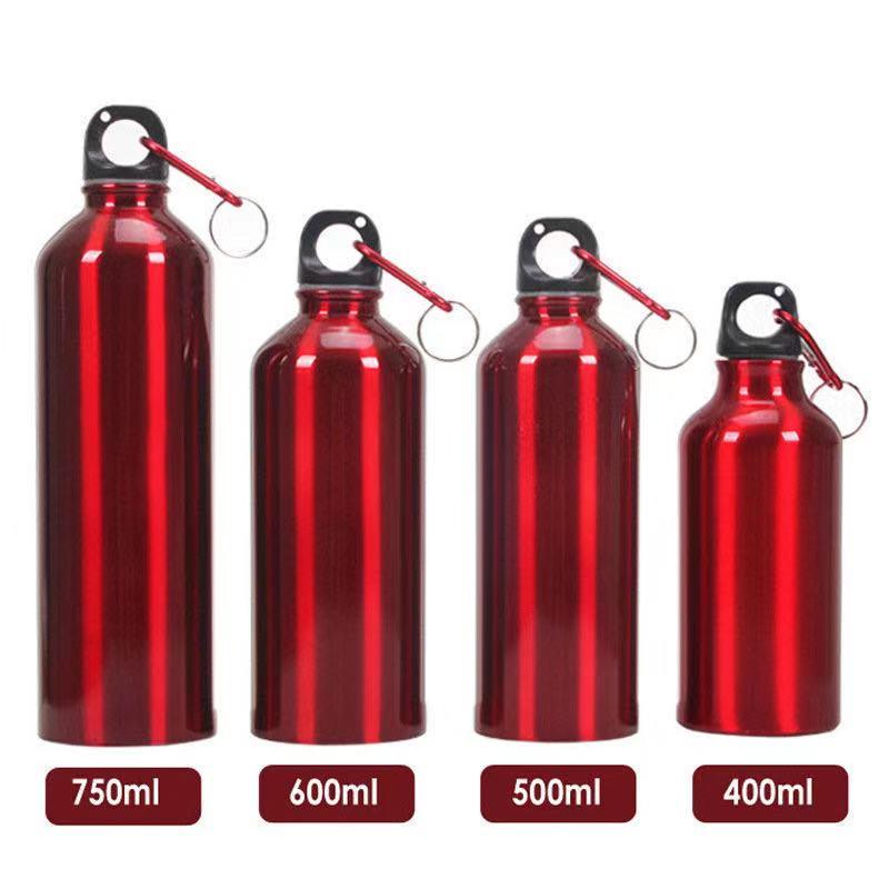 Botellas de agua deportivas de acero inoxidable de 500 ML 750 ML + tapa a prueba de fugas botella de agua de vaso de gimnasio co
