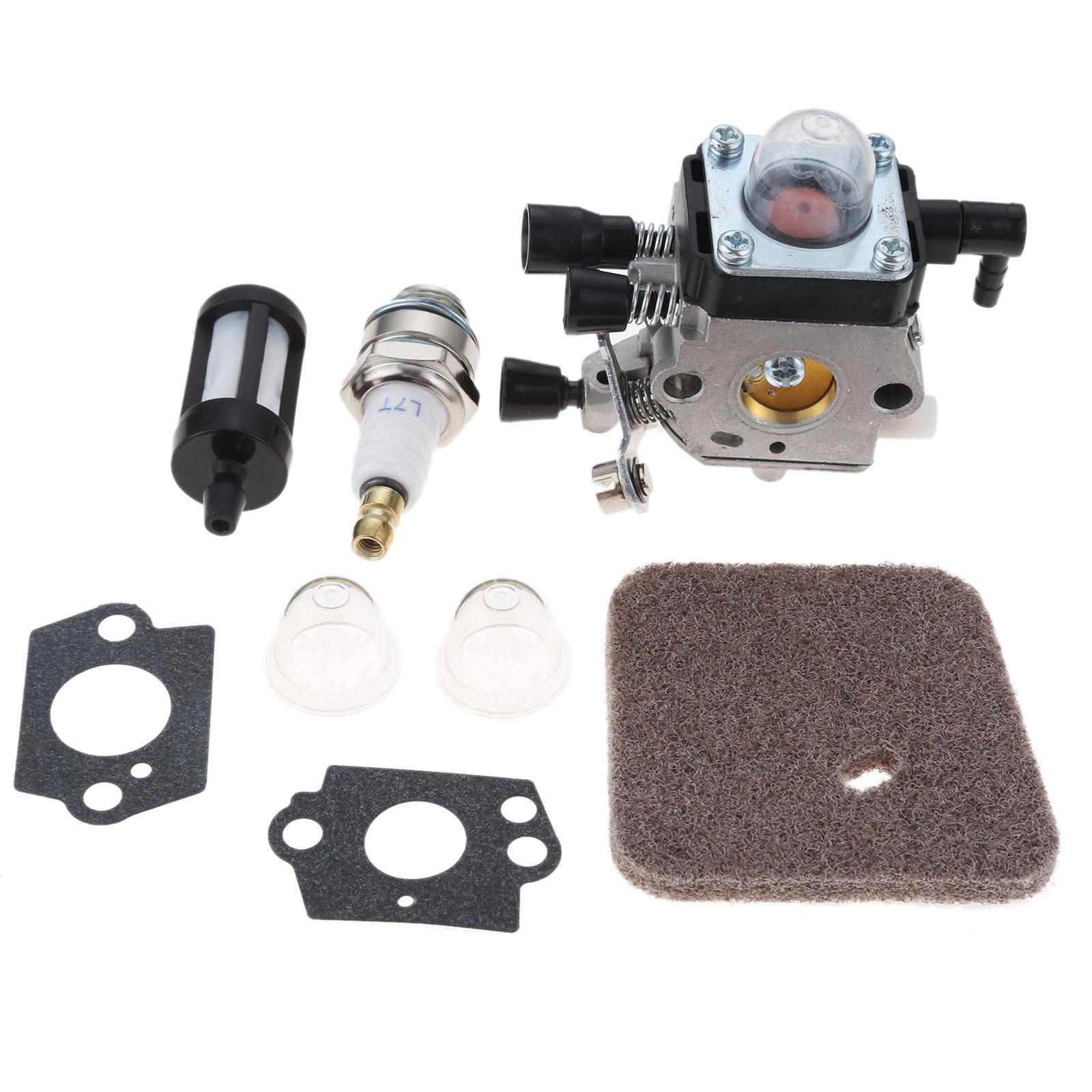 DRELD C1Q-S186 carburador con filtro de aire melodía Kit apto para STIHL FS38 FS45 FS46 FS46C FS55 FS55R de Trimmer de cortadora de césped