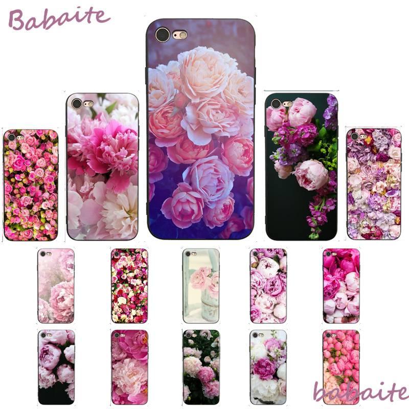 Babaite flor Rosa peonía en florero de lujo diseño único PhoneCase para iPhone 8 7 6 6S Plus X XS MAX 5 5S SE XR 11 11pro promax