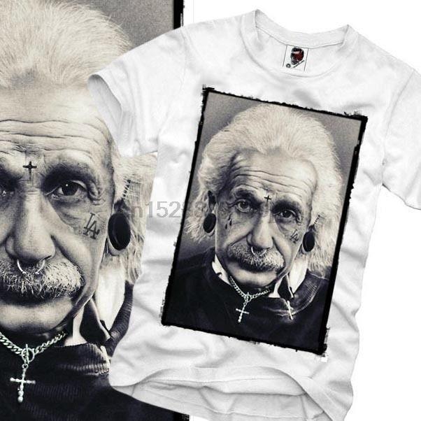 Harajuku Camiseta Einstein Wasted Youth Paris Londres Menino Onze S M L X