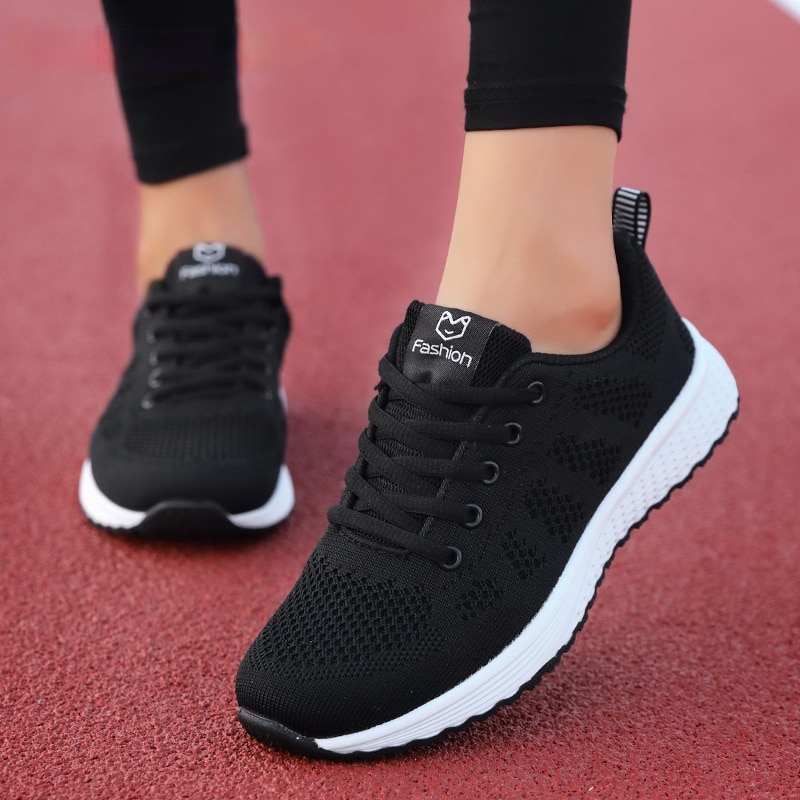 Woman Fashion Shoes Platforms Sneakers Vans Flats Mesh Nursing Shoes for Women Sale Off White Shoes Tenis Feminino Sapatos Mujer