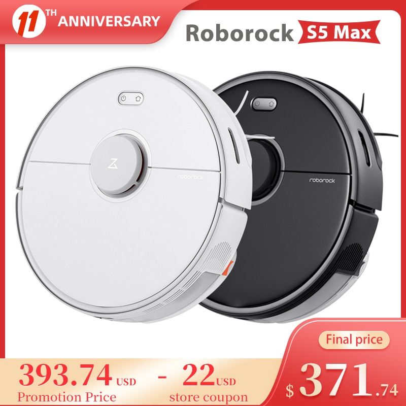 Roborock S5 Max Robot Vacuum Cleaner WIFI APP Control Automatic Smart Planned Sweeping Dust Sterilize Washing Cyclone Suction