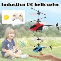 Летающий самолет датчик вертолет Индукционная светящаяся игрушка для детей Дистанционное управление AN88